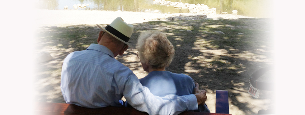 Elderly Couple Assisted Outing of Seniors
